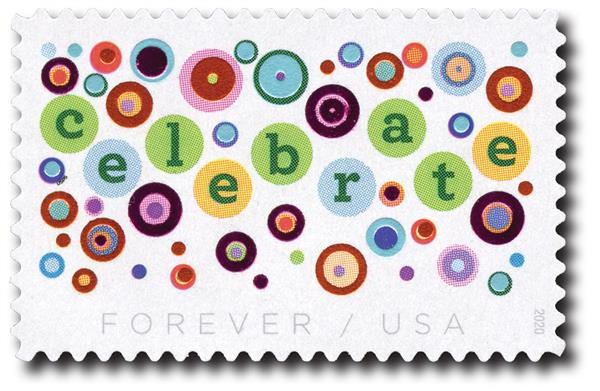 2020 First-Class Forever Stamp - Lets Celebrate!