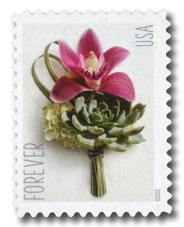 2020 First-Class Forever Stamp - Wedding Series: Contemporary Boutonniere