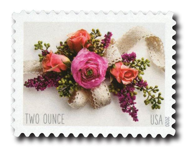 2020 Two-Ounce Forever Stamp - Wedding Series: Garden Corsage