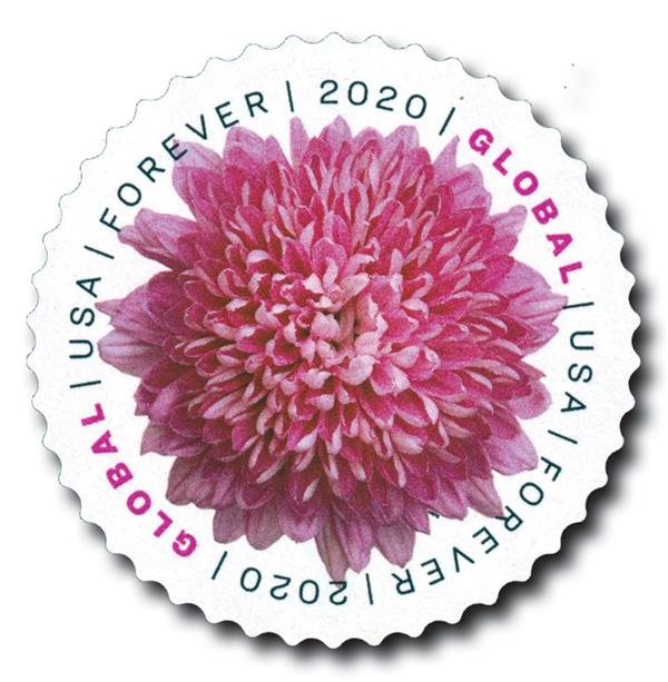 2020 Global Forever Stamp - Chrysanthemum