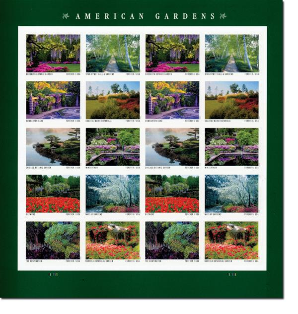 2020 First-Class Forever Stamps - American Gardens