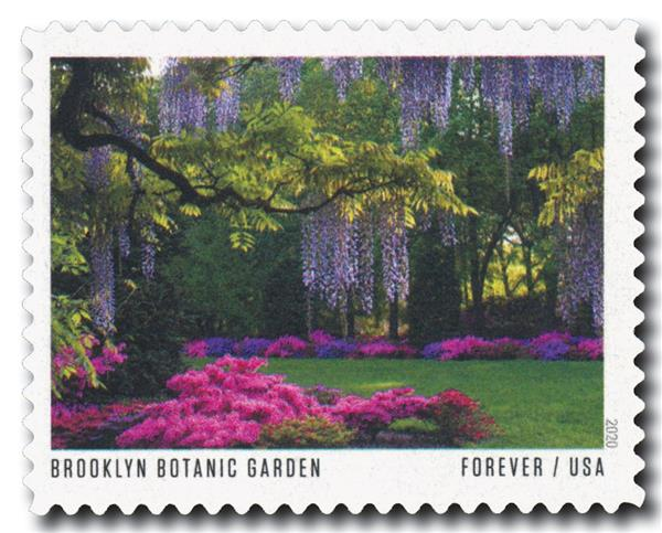 2020 First-Class Forever Stamp - American Gardens; Brooklyn Botanic Garden, NY