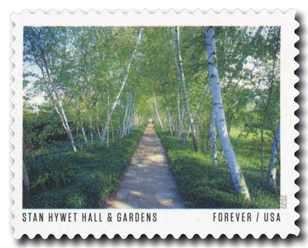 2020 First-Class Forever Stamp - American Gardens; Stan Hywet Hall & Garden, OH