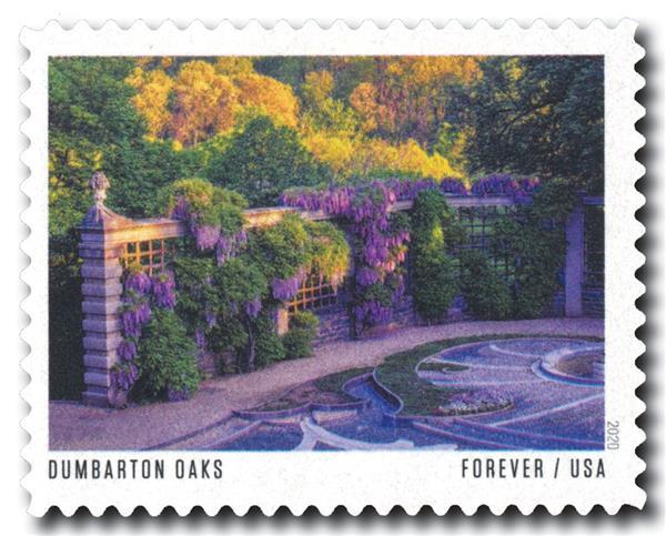 2020 First-Class Forever Stamp - American Gardens; Dumbarton Oaks Gardens, DC