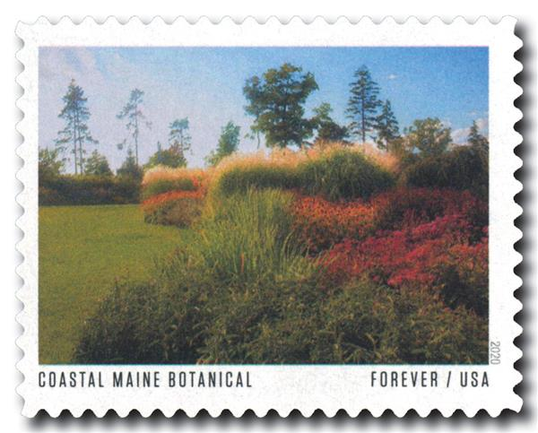 2020 First-Class Forever Stamp - American Gardens; Coastal Maine Botanical Gardens