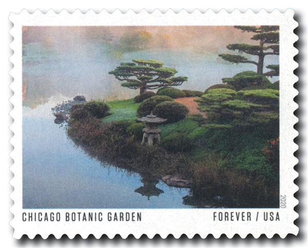 2020 First-Class Forever Stamp - American Gardens; Chicago Botanic Garden, IL