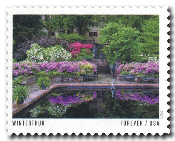 2020 First-Class Forever Stamp - American Gardens; Winterthur Garden, DE