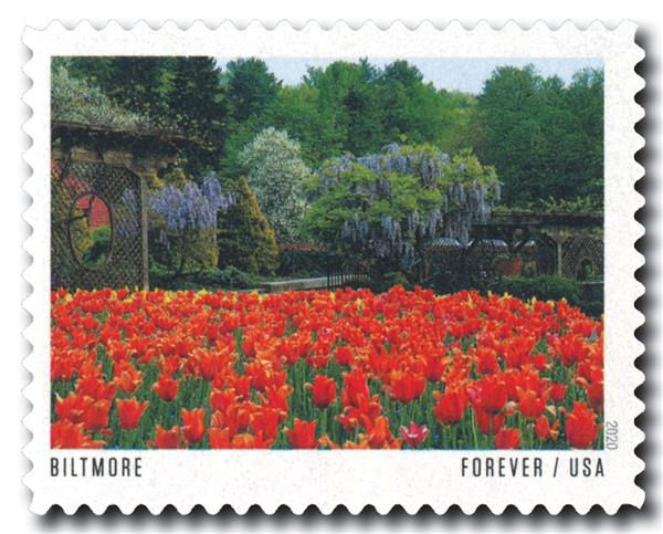 2020 First-Class Forever Stamp - American Gardens; Biltmore Estate Gardens, NC