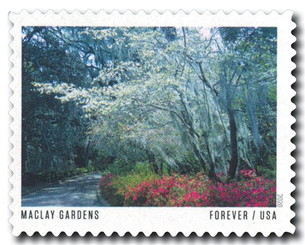 2020 First-Class Forever Stamp - American Gardens; Alfred B. Maclay Garden State Park, FL