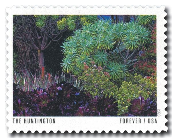 2020 First-Class Forever Stamp - American Gardens; The Huntington Botanical Garden, CA