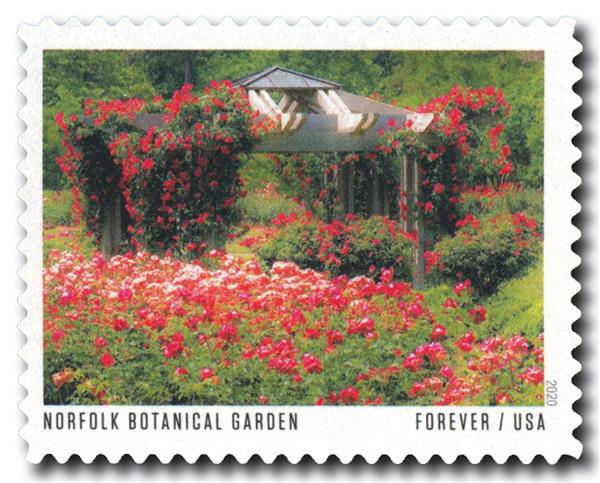 2020 First-Class Forever Stamp - American Gardens; Norfolk Botanical Garden, VA