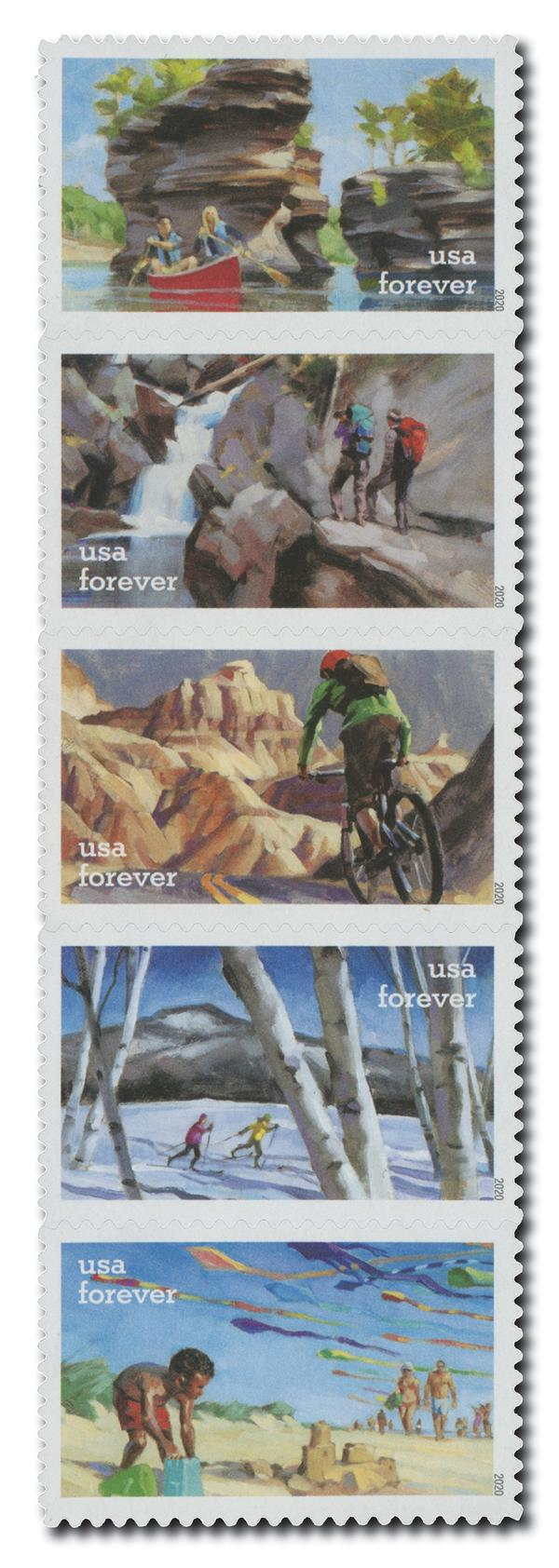 2020 First-Class Forever Stamps - Enjoy the Great Outdoors