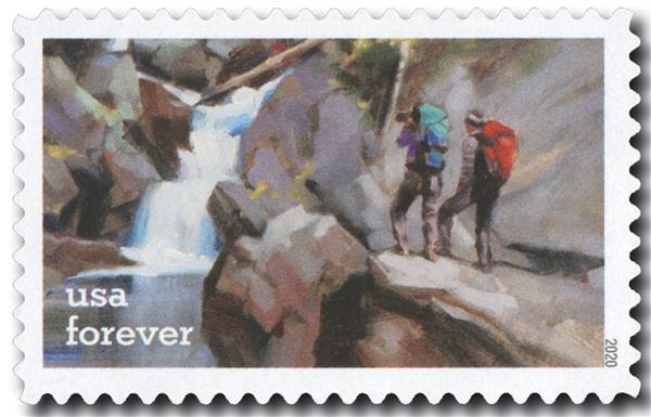 2020 First-Class Forever Stamps - Enjoy the Great Outdoors: Hiking