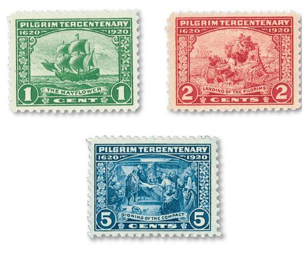 Complete Set, 1920 Pilgrim Tercentenary Series
