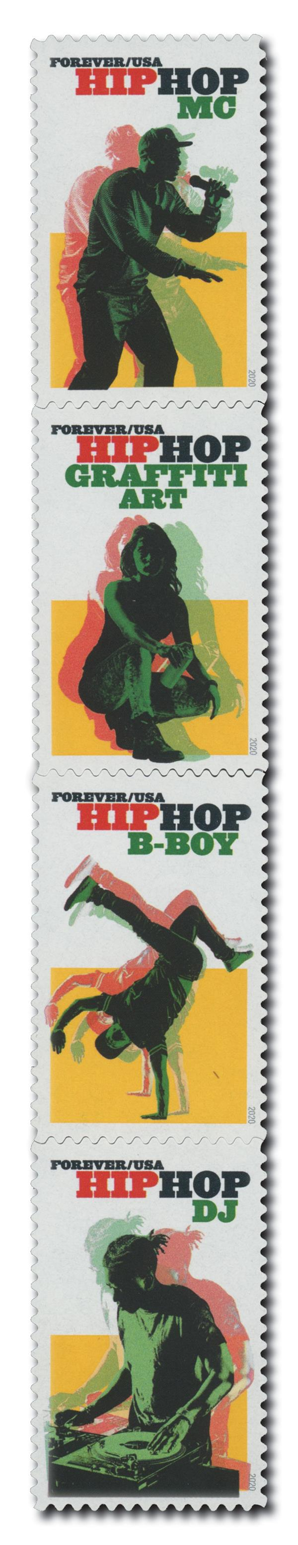 2020 First-Class Forever Stamps - Hip Hop