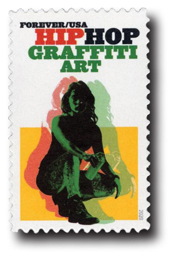 2020 First-Class Forever Stamp - Hip Hop: Graffiti Art