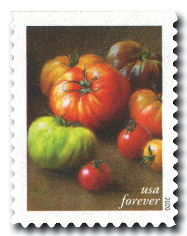 2020 First-Class Forever Stamps - Fruits and Vegetables: Heirloom and Cherry Tomatoes