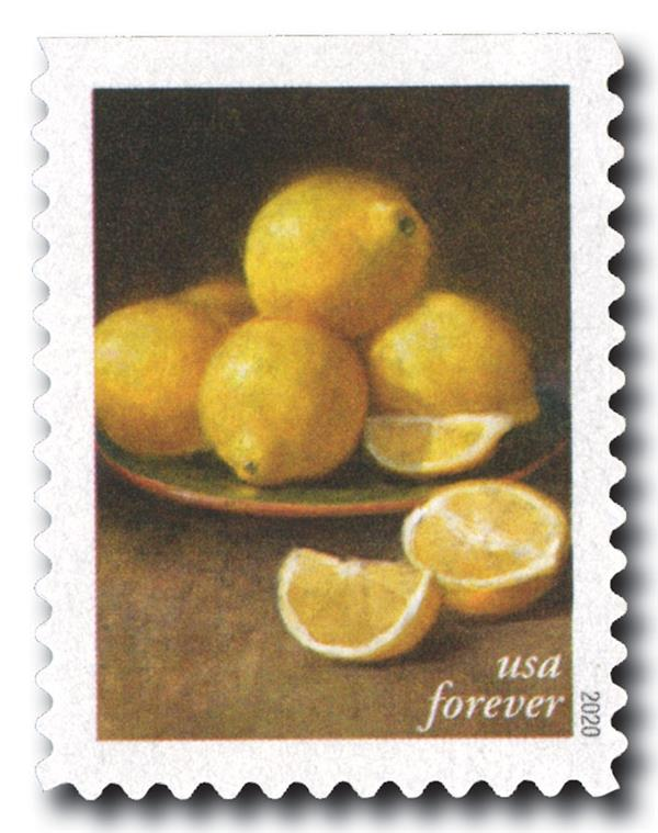 2020 First-Class Forever Stamps - Fruits and Vegetables: Lemons
