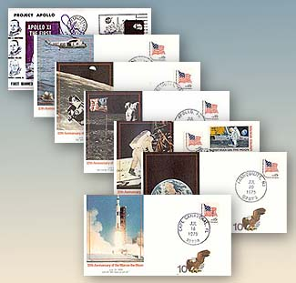 1979 Moonlanding Covers Set of 6 & Facsimile