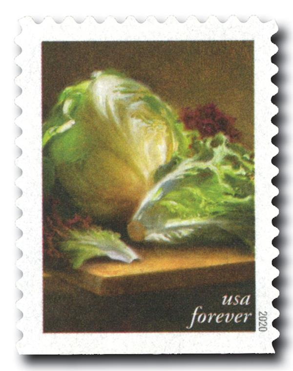 2020 First-Class Forever Stamps - Fruits and Vegetables: Lettuces