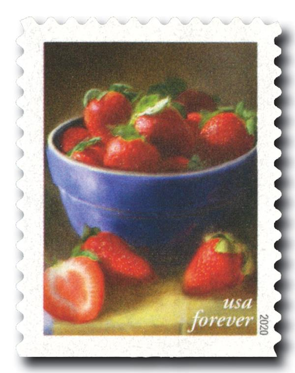 2020 First-Class Forever Stamps - Fruits and Vegetables: Strawberries