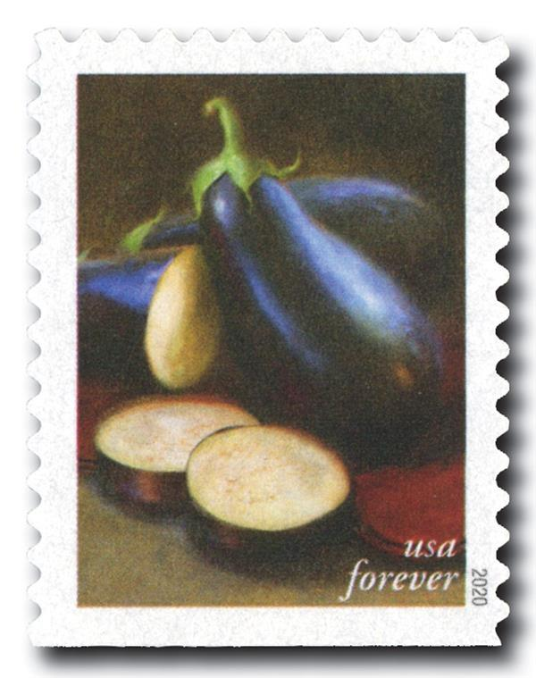 2020 First-Class Forever Stamps - Fruits and Vegetables: Eggplants