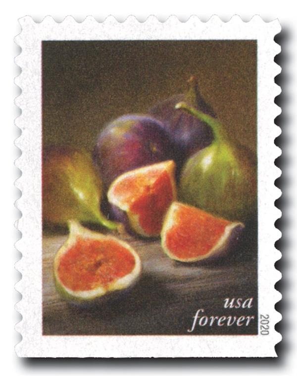 2020 First-Class Forever Stamps - Fruits and Vegetables: Figs