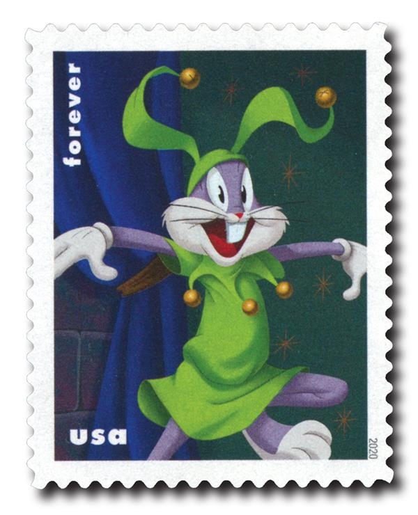 2020 First-Class Forever Stamps - Bugs Bunny: Court Jester