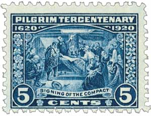 1920 5c Pilgrim Tercentenary: Signing of the Compact