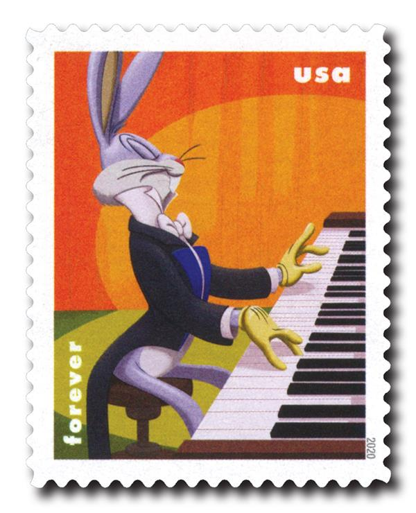 2020 First-Class Forever Stamps - Bugs Bunny: Playing the Piano