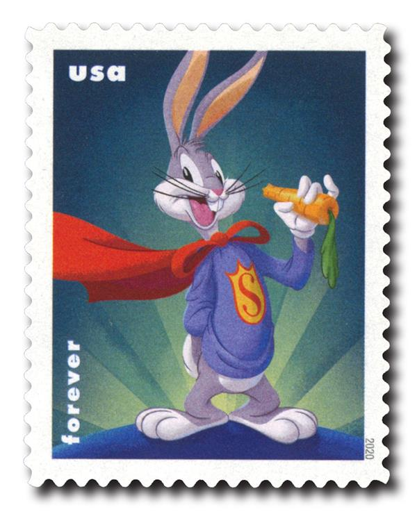 2020 55c Bugs Bunny - Super-Rabbit