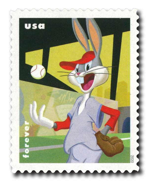 2020 First-Class Forever Stamps - Bugs Bunny: Playing Baseball
