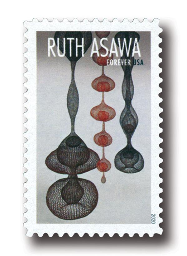 2020 First-Class Forever Stamps - Ruth Asawa: Three Looped Wire Sculptures