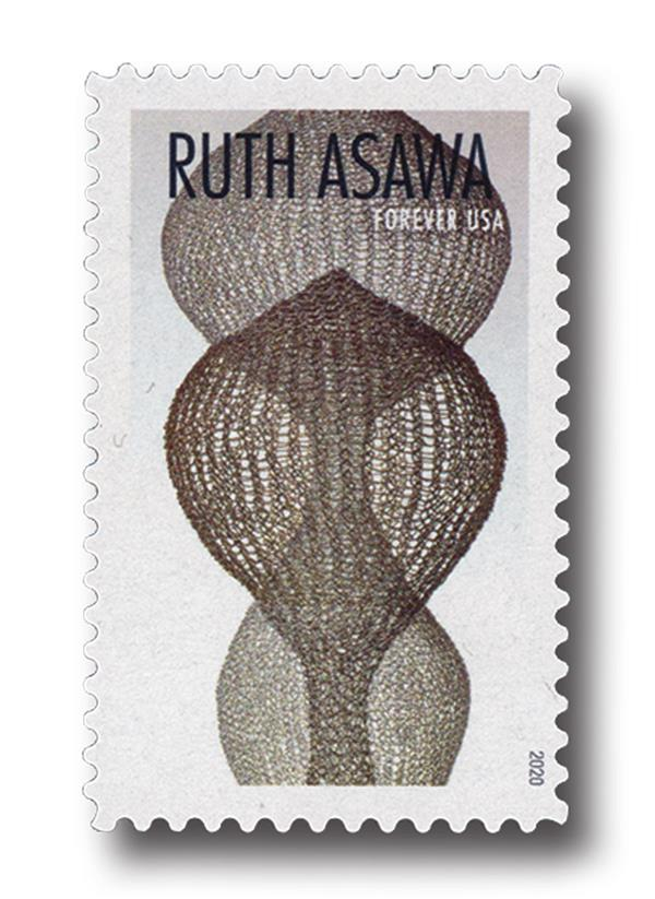 2020 First-Class Forever Stamps - Ruth Asawa: Seven-Lobed Continuous Interlocking Form