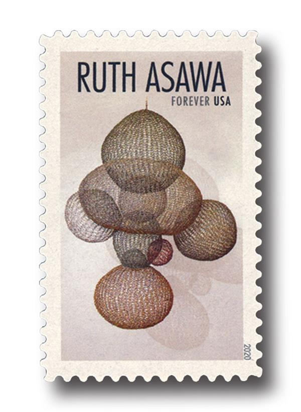 2020 First-Class Forever Stamps - Ruth Asawa: Asymmetrical Nine Interlocking Bubbles