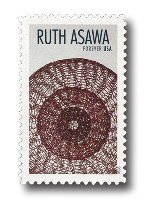 2020 First-Class Forever Stamps - Ruth Asawa: Miniature Single-Lobed, Three Layered Continuous Form