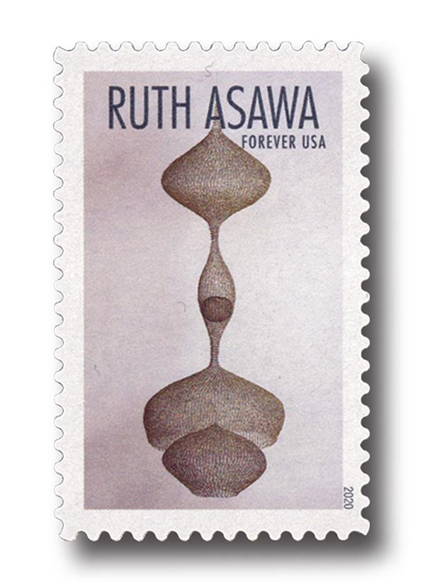 2020 First-Class Forever Stamps - Ruth Asawa: Hanging Three-Lobed Continuous Form