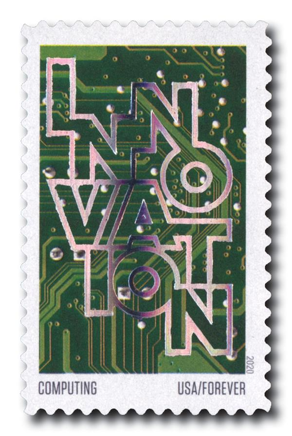 2020 55c First-Class Forever Stamps - Innovation: Computing