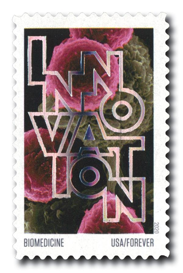 2020 55c First-Class Forever Stamps - Innovation: Biomedicine