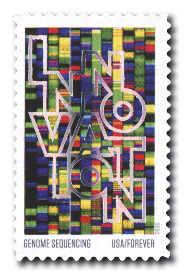 2020 55c First-Class Forever Stamps - Innovation: Genome Sequencing