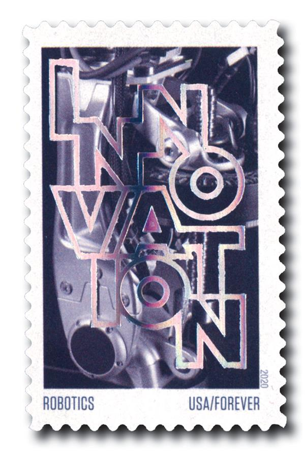 2020 55c First-Class Forever Stamps - Innovation: Robotics