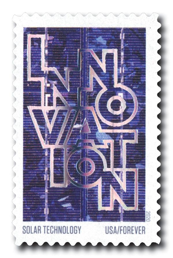 2020 55c First-Class Forever Stamps - Innovation: Solar Technology