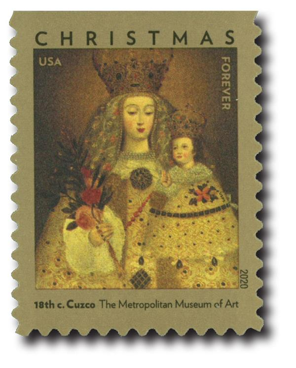 2020 First-Class Forever Stamp - Our Lady of Guapulo