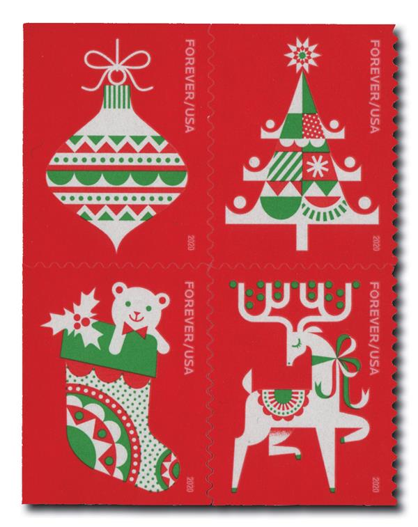 2020 First-Class Forever Stamp - Holiday Delights