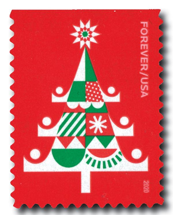 2020 First-Class Forever Stamp - Holiday Delights: Christmas Tree