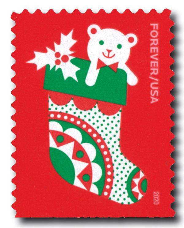 2020 First-Class Forever Stamp - Holiday Delights: Christmas Stocking