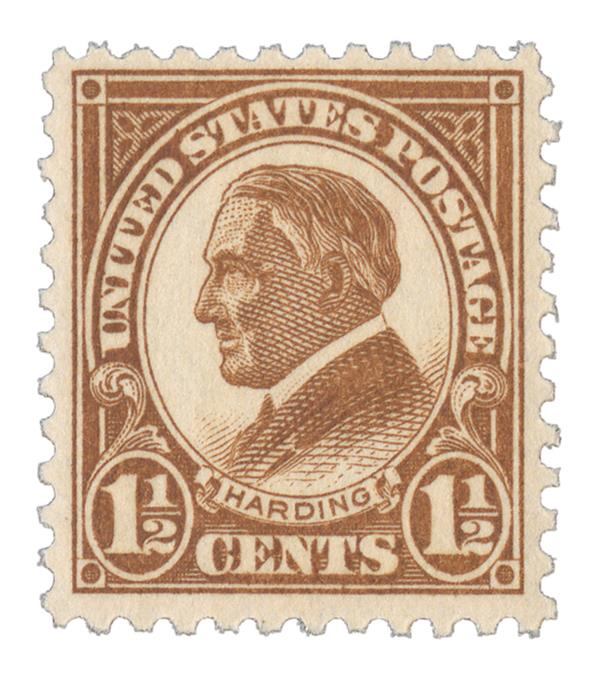 1925 1 1/2c Harding, yellow brown