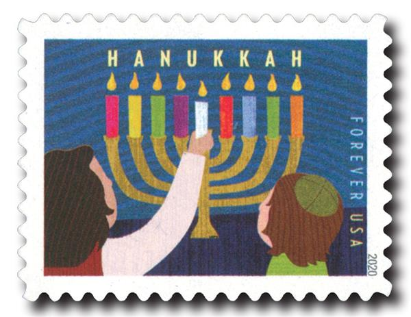 2020 First-Class Forever Stamp - Hanukkah
