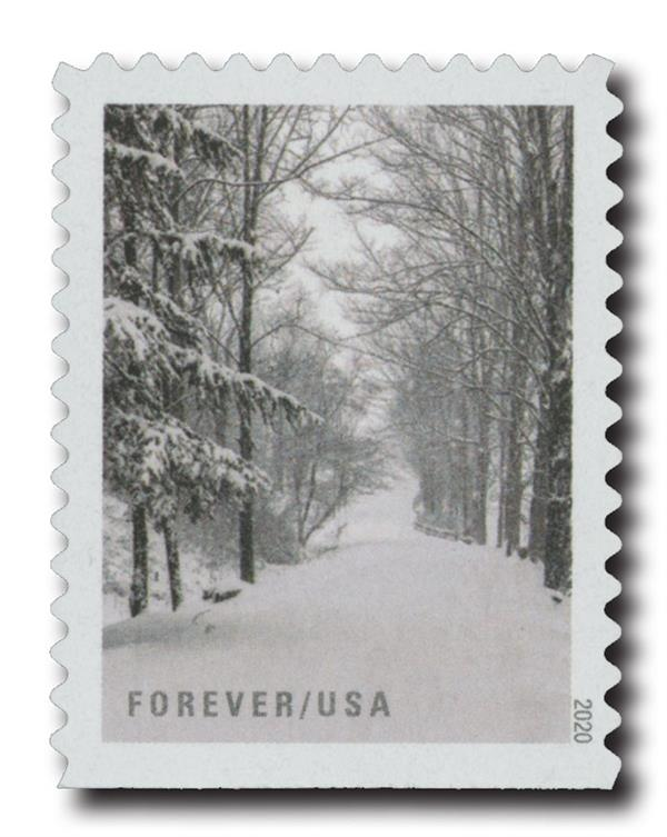 2020 First-Class Forever Stamps - Winter Scenes: After the Snowfall