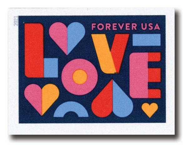 2021 First-Class Forever Stamp - Imperforate Love